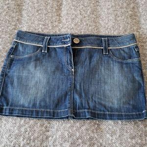 Jean's Paul Gaultier denim mini skirt
